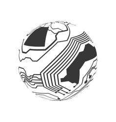 Circuit board circle icon Technology design vector image