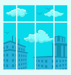 cityscape view design flat vector image