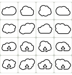 Cloud Shapes Set Icons vector image