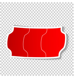 color stiker tag special offer on transparent vector image
