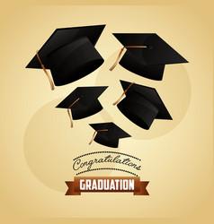 congratulations graduation card vector image