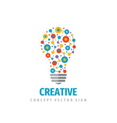 Creative idea - logo template concept vector