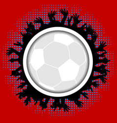 crowd border cartoons style and football soccer vector image