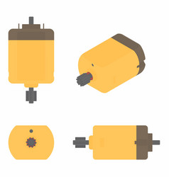 Dc motor colored vector