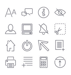 different universal icons for apps sites vector image
