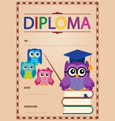 Diploma thematics image 4 vector