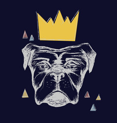 Dog and crown vector