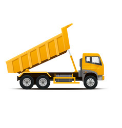 Dumper truck vector