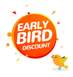 Early bird discount special offer sale icon vector