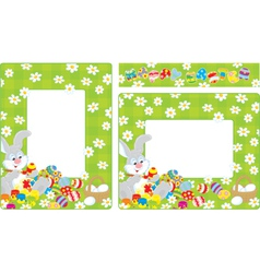 Easter borders vector image