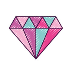 Elegant diamond isolated icon vector