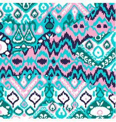Ethnic bohemian arabesque pattern zigzag vector