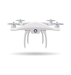 Flying Drone in Flat Design vector
