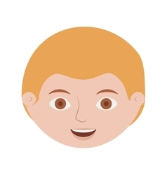 front face blond man smiling vector image