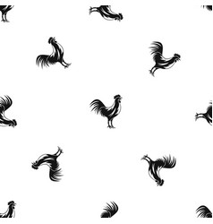 gallic rooster pattern seamless black vector image vector image