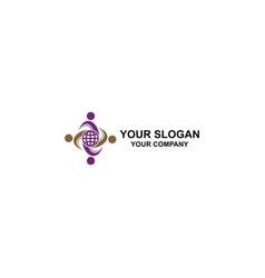 global partner logo design vector image