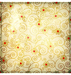 Grunge floral background design vector