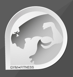 Gym and fitness vector image