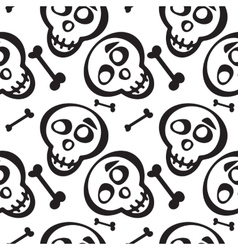 Hand drawn scull seamless pattern vector