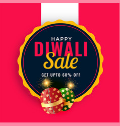 Happy diwali sale promotion banner template with vector