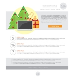 Happy New Year Holiday Greeting email template in vector image vector image