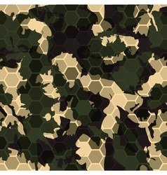 Hexagonal camouflage digital hexagon camo vector