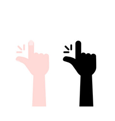 human hand like snap or easy gesture vector image