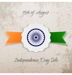 India Independence Day holiday Tag vector