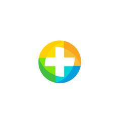 isolated unusual colorful logo medic logo vector image