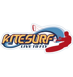 Kite surfing vector