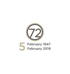 logo for 72 years vector image