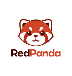 logo red panda vector image