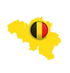map of belgium with a label vector image