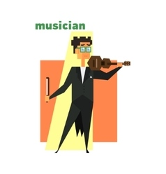 Musician Abstract Figure vector