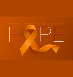 National kidney cancer awareness calligraphy vector