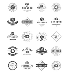 Photographer Logo Templates Set Design vector