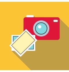 Photos icon flat style vector