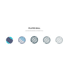 Pilates ball icon in different style two colored vector