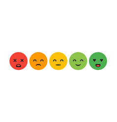 rating satisfaction feedback in form of emotions vector image