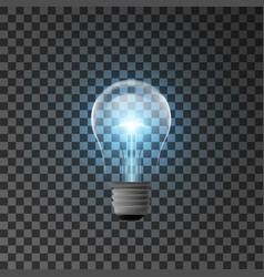 realistic bulb with shining light vector image