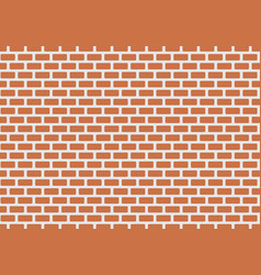 red bricks wall vector image