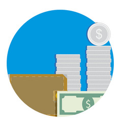 Salary icon flat vector