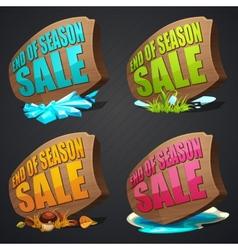 Set of season sales labels vector