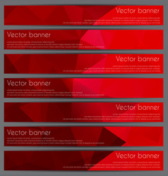 Set of triangular banners vector