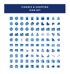 set payment and finance icon with filled vector image
