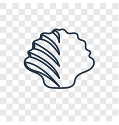 shellfish concept linear icon isolated on vector image