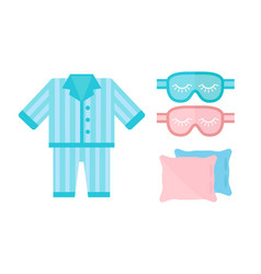 sleep pajamas icon bed sign vector image