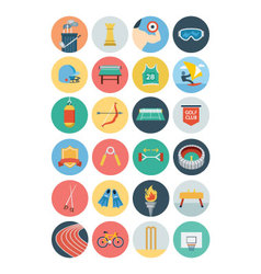 Sports Flat Icons - Vol 3 vector image