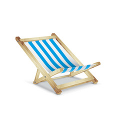 striped beach chair vector image