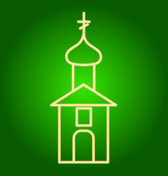 The building of the christian church icon vector